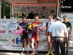 Mihkel Räim võitjana. V.Abarca/ProBikeShop St Etienne Loire