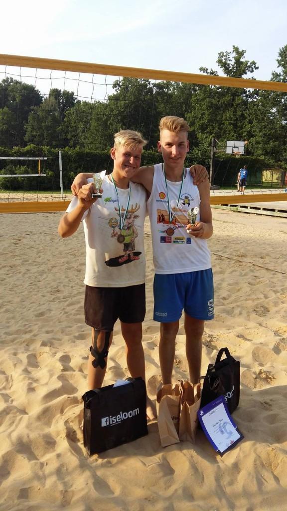 Robin Alba ja Karl-Erik Tänav. Saaremaa Võrkpall