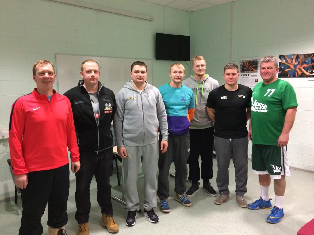 Koolitusel osalenud treenerid. MTÜ Saaremaa Korvpall
