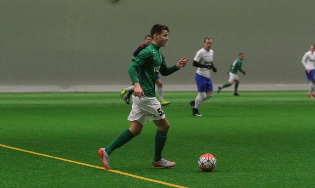 Mairo Miil FC Flora koosseisus halliturniiril. FC Flora