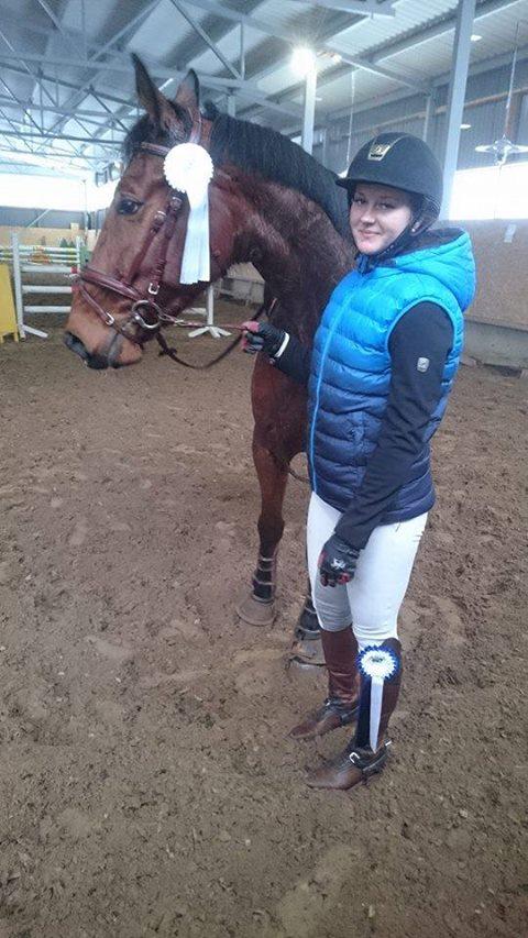 Põhisõidu võitja Merit Milter ja Seeder Horses hobune Kazai. Saaremaa Ratsakeskus