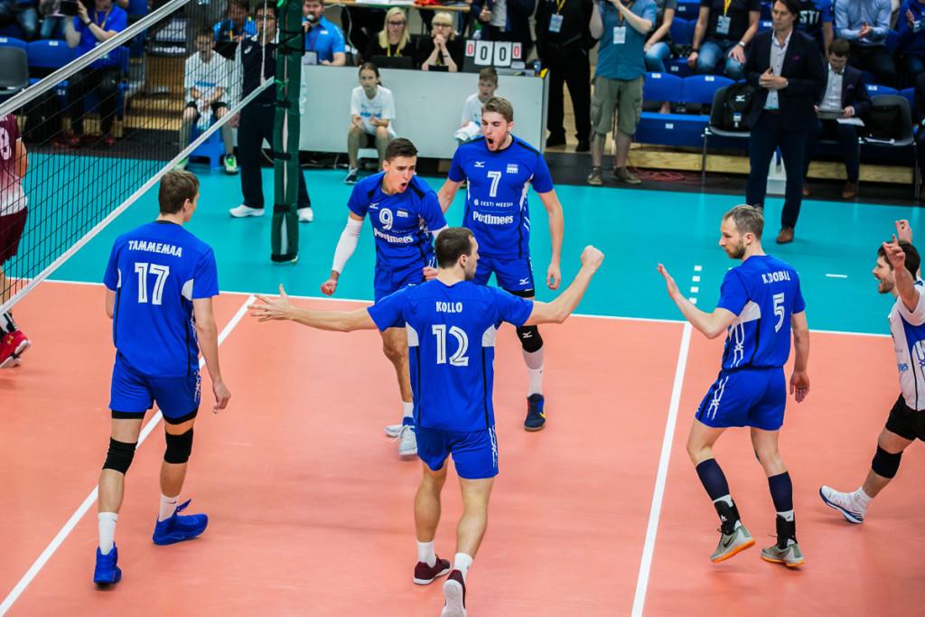 Meeskond mängus. volley.ee/Siim Solman