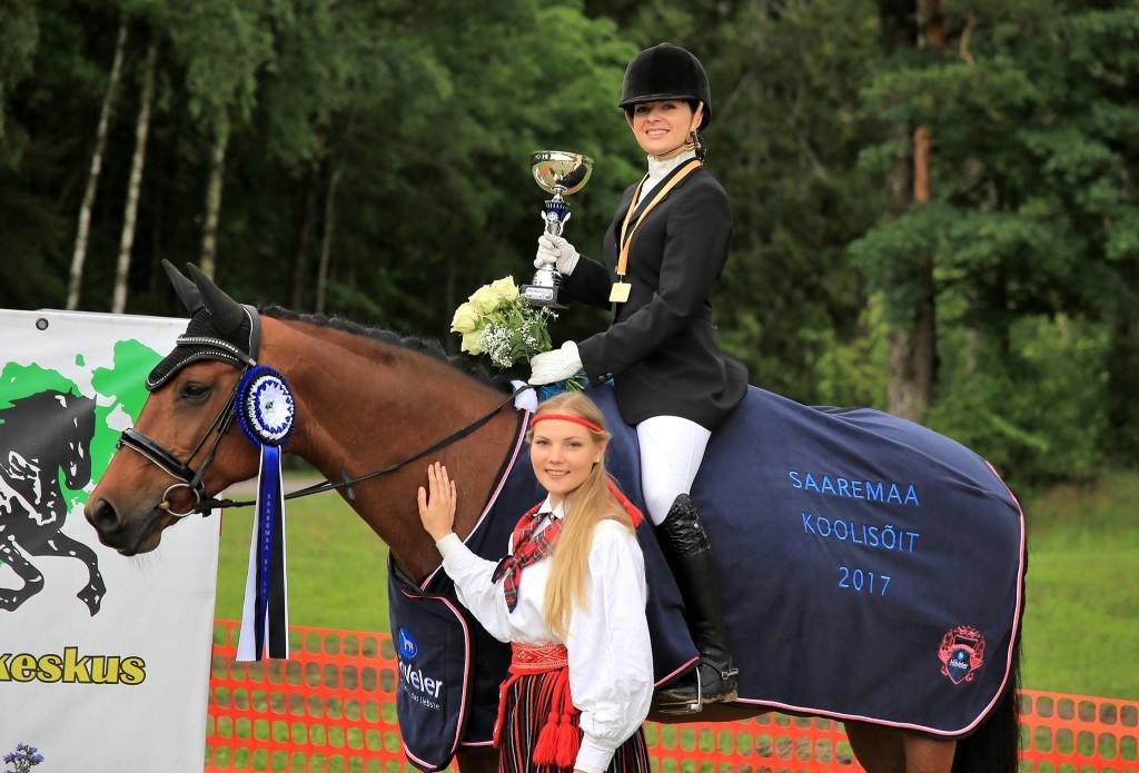 Maria Vanatoa ja hobune Caprice. Katri Kuris
