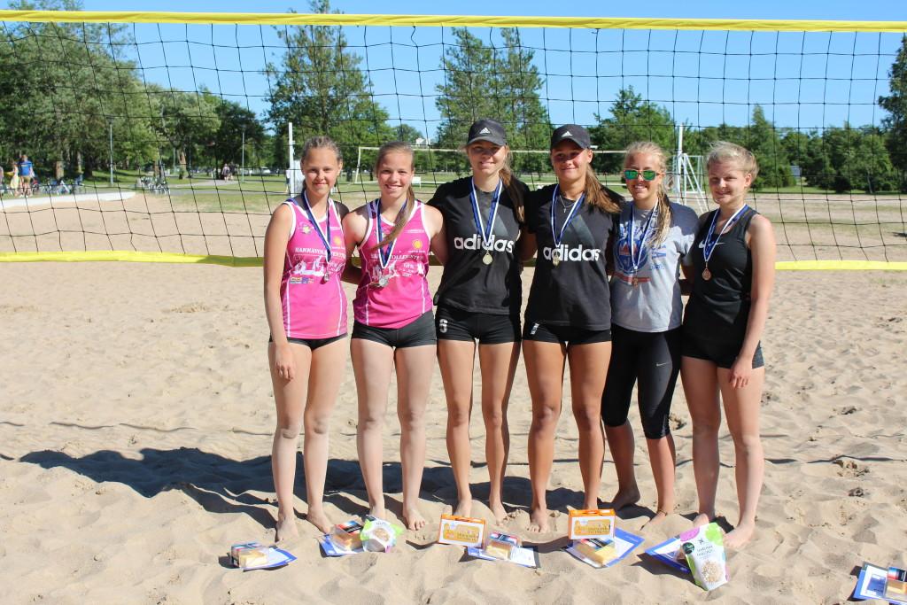 U18 paremad, Maike Kadaja paremal. Saaremaa Võrkpalli Liit