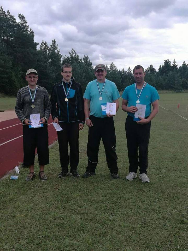 Vasakult: Marek Kolk, Paul Kolk, Gunnar Usin, Gabriel Alesmaa. Võhma Kultuuri- ja Spordiselts