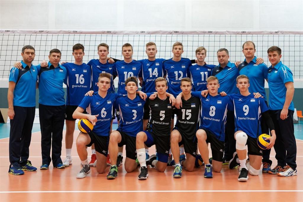 Eesti noortekoondis (Robin Alba nr.8). Saaremaa Võrkpalli Liit