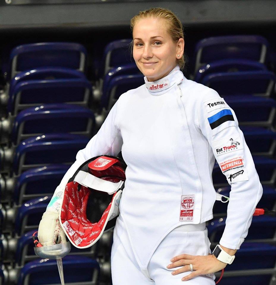 Kristina Kuusk areenil. Augusto Pizzi