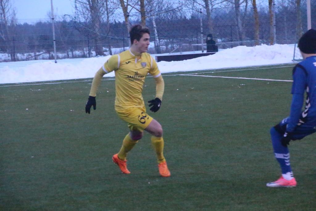 Rasmus Saar mängus Pärnu JK-ga. Alver Kivi