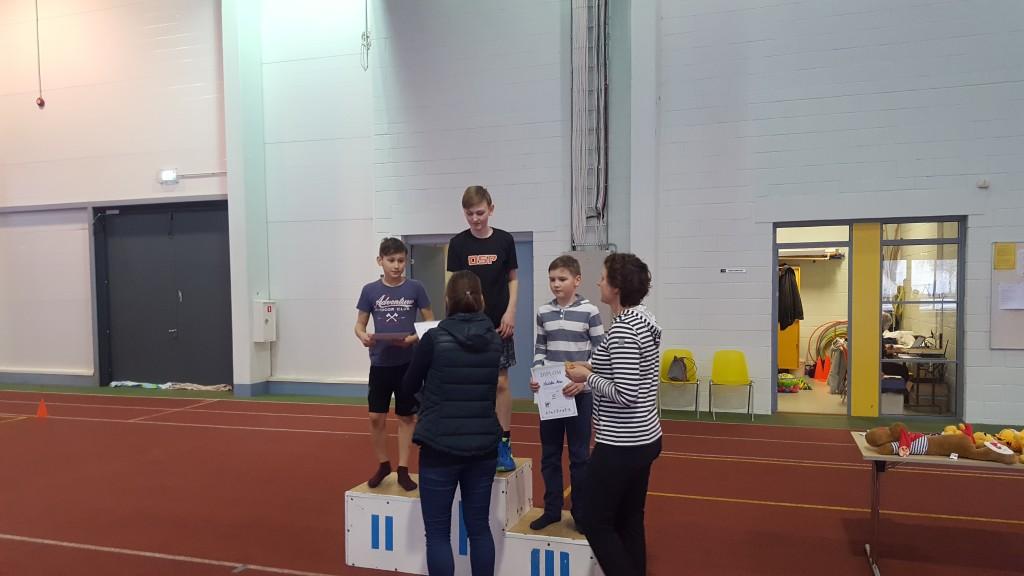 Pildil vasakult kõrgushüppe kolm paremat Andre Jürisson, Rasmus Olop ja Kristofer Mere. Andre Kuntsel