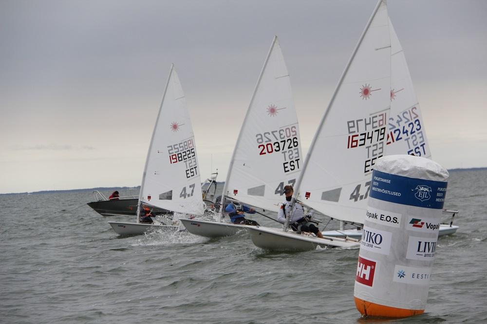 SMS regatt 2017 Laser 4.7 finaali start. Riina Ramst