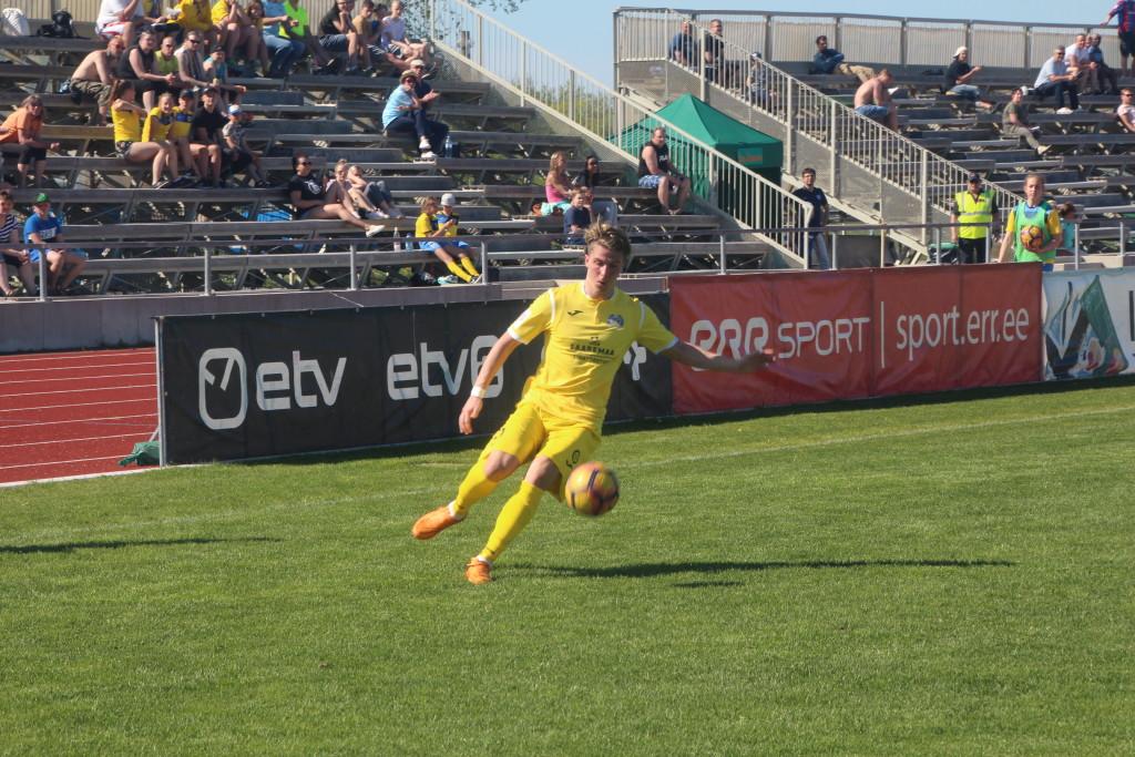 Rasmus Saar lõi liigas oma esimese värava. Alver Kivi