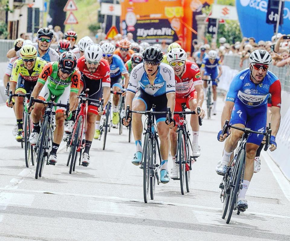 Kolmandana finišis. Cycling Academy