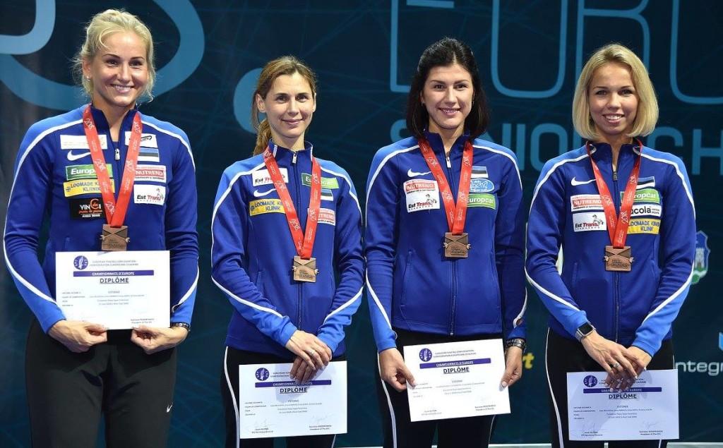 Kristina Kuusk koos võistkonnakaaslastega. Augusto Bizzi