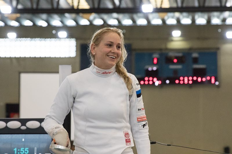 Rõõmus Kristina Kuusk. International Fencing Federation