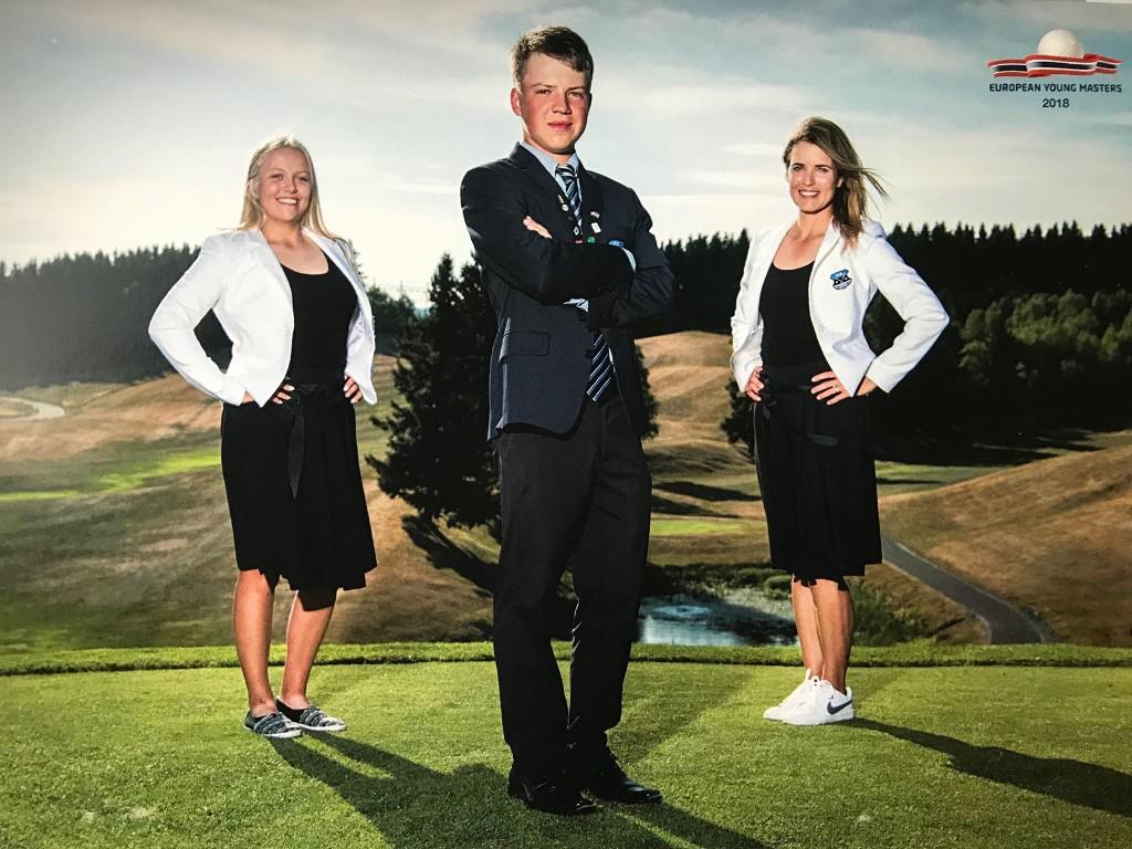 Karola Soe koos Markus Varjuni ja treener Mari Raunaga. European Young Masters.