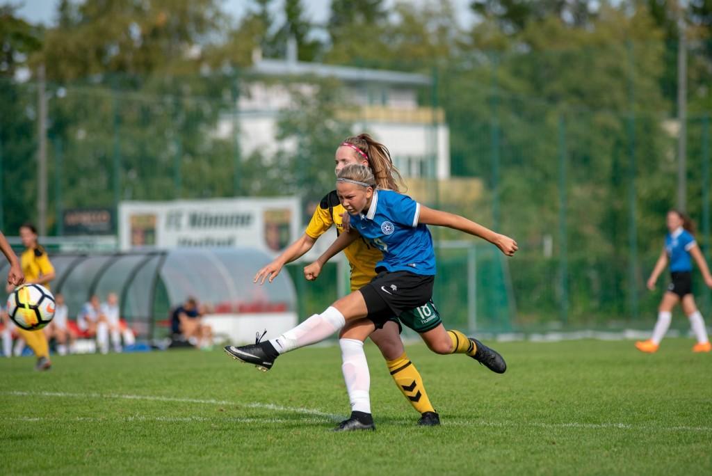 Kristina Teern on saanud löögile. jalgpall.ee