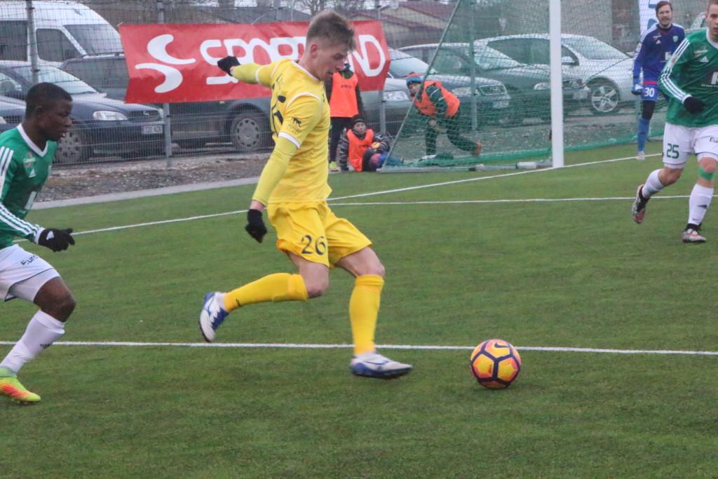 Sander Laht lõi penaltist viigivärava. Alver Kivi