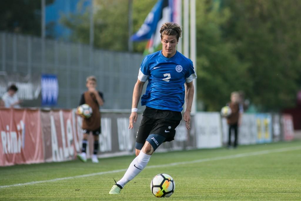 Rasmus Saar koondises. Eesti Jalgpalli Liit