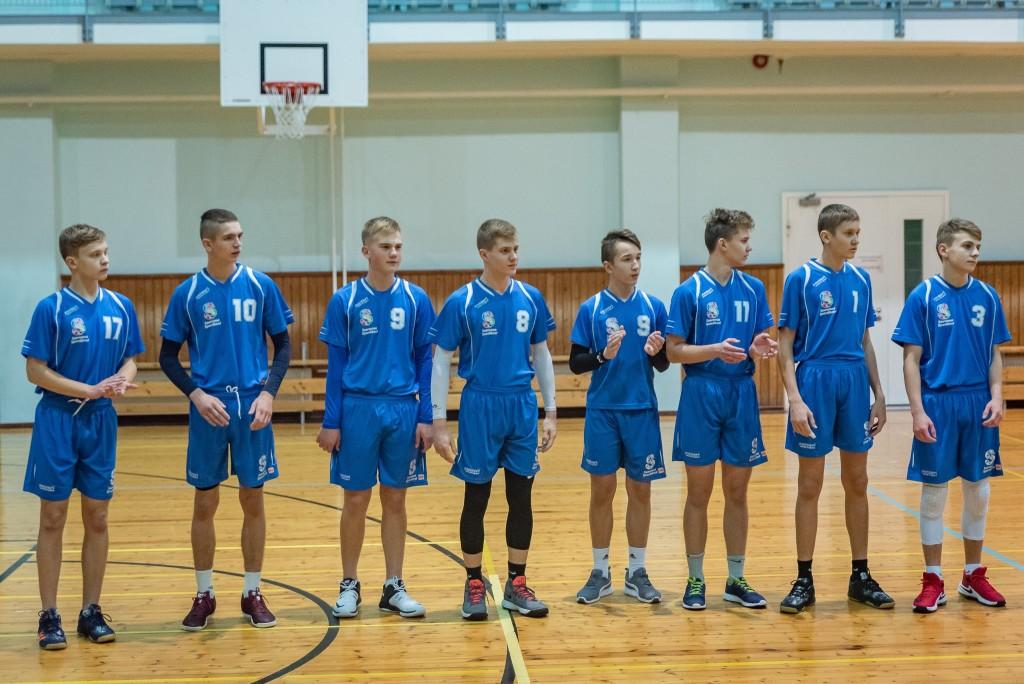 Võidukas U18 poiste võistkond. Saaremaa Võrkpalli Liit