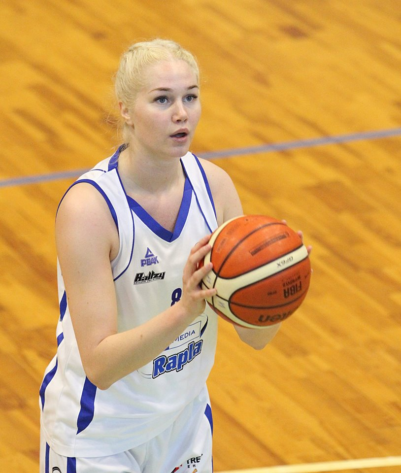 Annika Köster vabaviskel. Womans Baltic basketball league