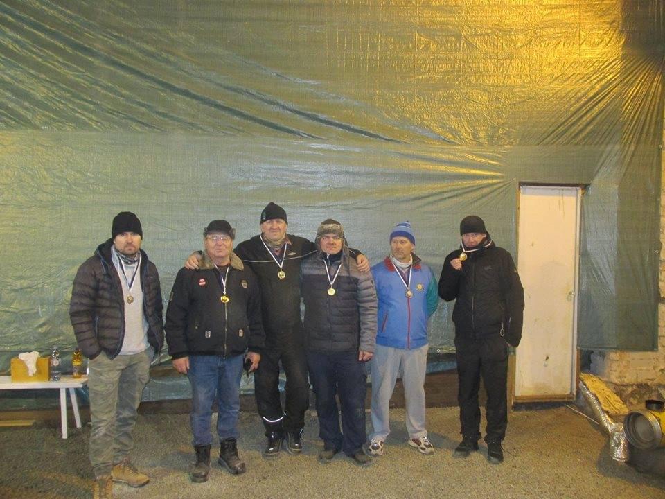 Teise etapi esikolmik: (vasakult) Alar Andrejev, Gennadi Andrejev, Gunnar Usin, Aare Trave, Enno Kermik, Urmo Auväärt. Erakogu
