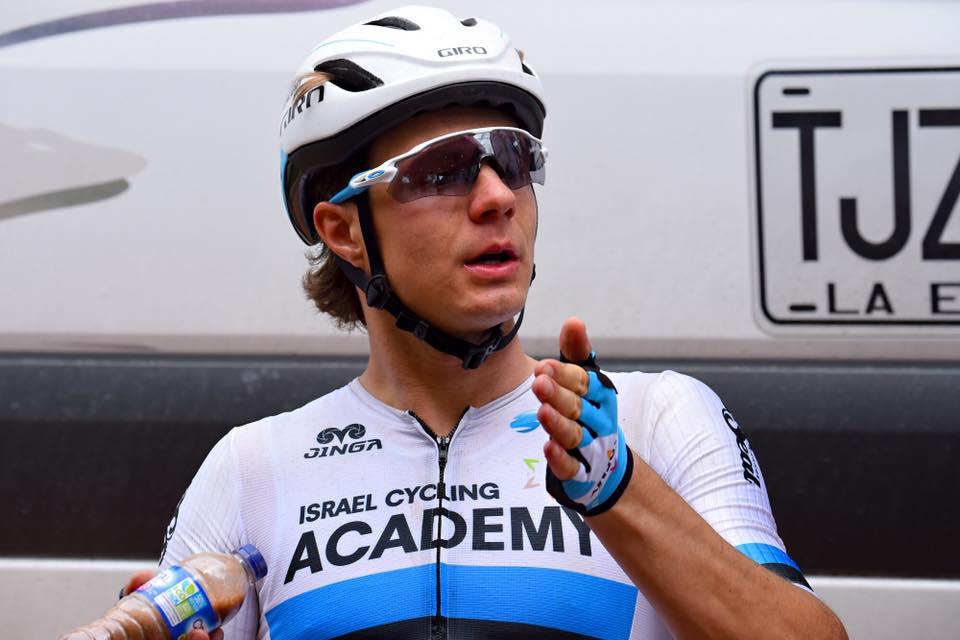 Mihkel Räim pärast võistlust. Israel Cycling Academy