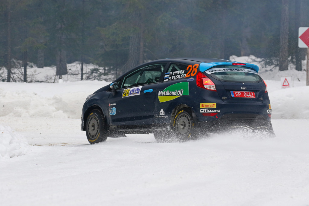 Robert Virves Läti talvisel rajal. Valdis Priede/autosports.lv