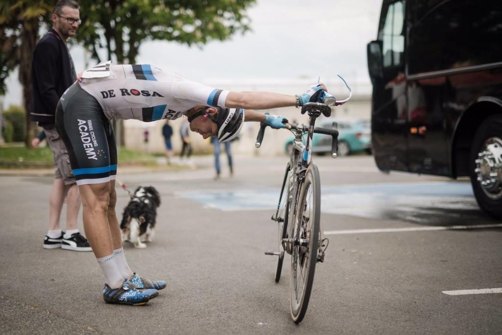 Mihkel Räim pärast võistlust. Cycling Academy