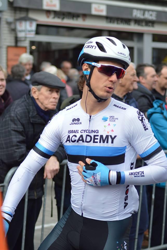 Mihkel Räim Eesti meistrisärgis. Cycling Academy
