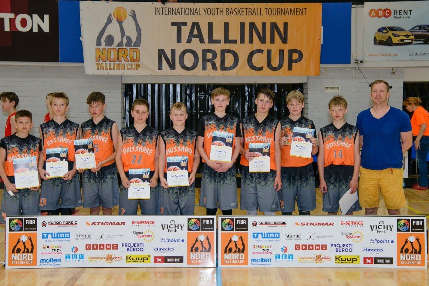 Orissaare korvpallipoisid Tallinn Nord Cupil