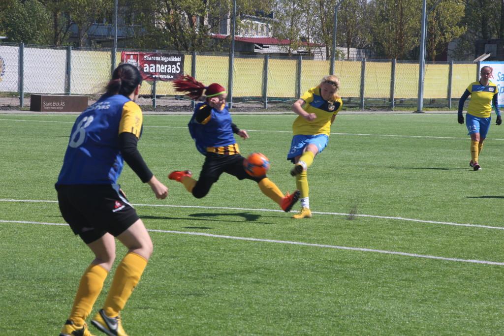 Kristina Teern lööb teise värava. Alver Kivi