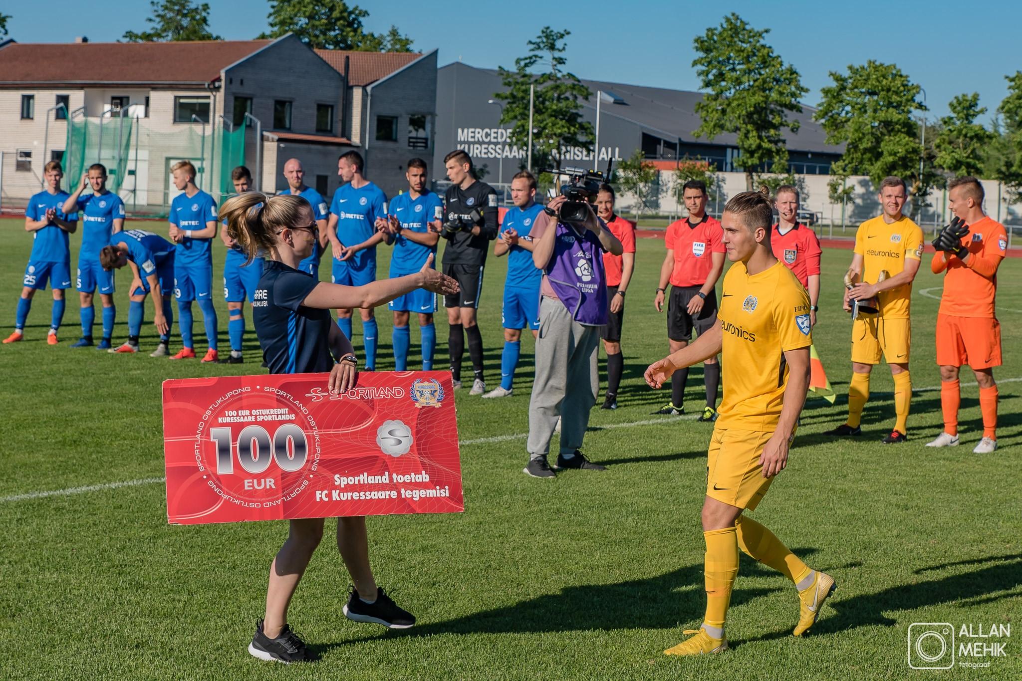 FC Kuressaare maikuu parimaks valiti Rasmus Saar