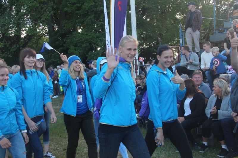 Saarlased kahe aasta eest Gotlandi mängude avatseremoonial. Alver Kivi