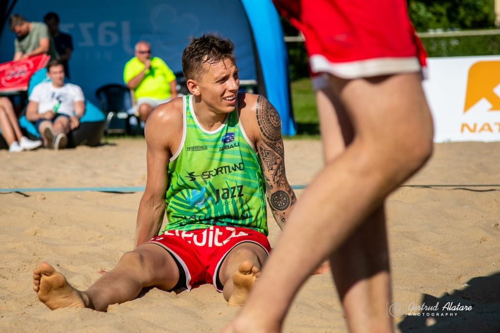 Karli Allik rannavolles. Gertrud Alatare/volley.ee