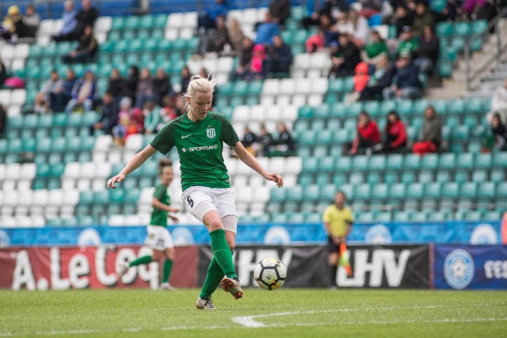 Liis Lepik FC Flora vormis. Jana Pipar:jalgpall.ee