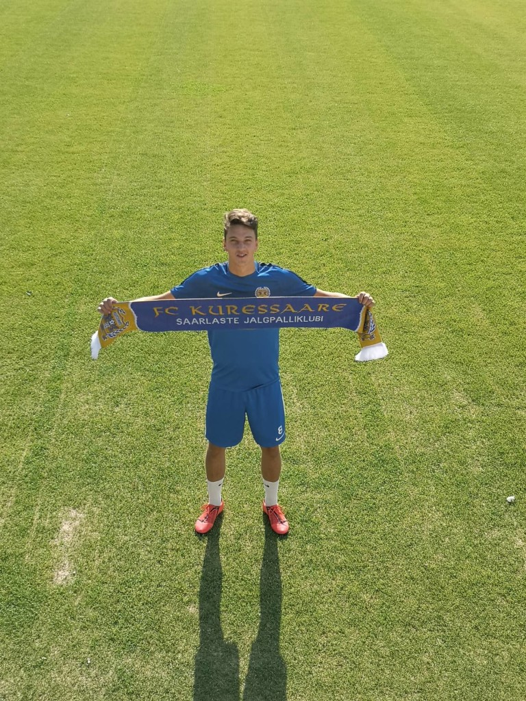 Joonas Soomre on väljakutseks valmis. FC Kuressaare