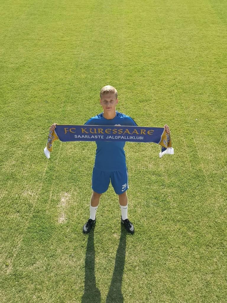 Nikita Komissarov on väljakutseks valmis. FC Kuressaare
