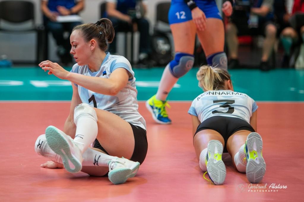 Nette Peit pärast punkti mängimist. Gertrud Alatare/volley.ee