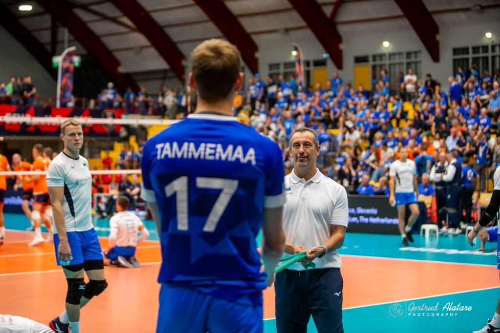 Timo Tammemaa soojendusel. Gertrud Alatare/volley.ee