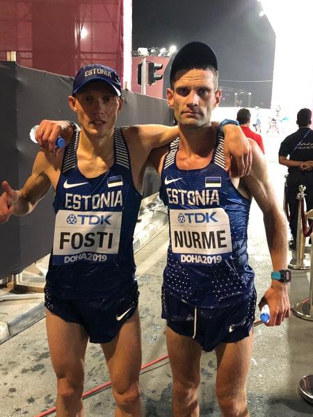 Tiidrek Nurme finites koos Roman Fostiga. Erakogu