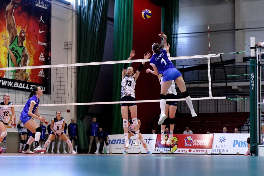 Nette Peit rünnakul. volley.ee