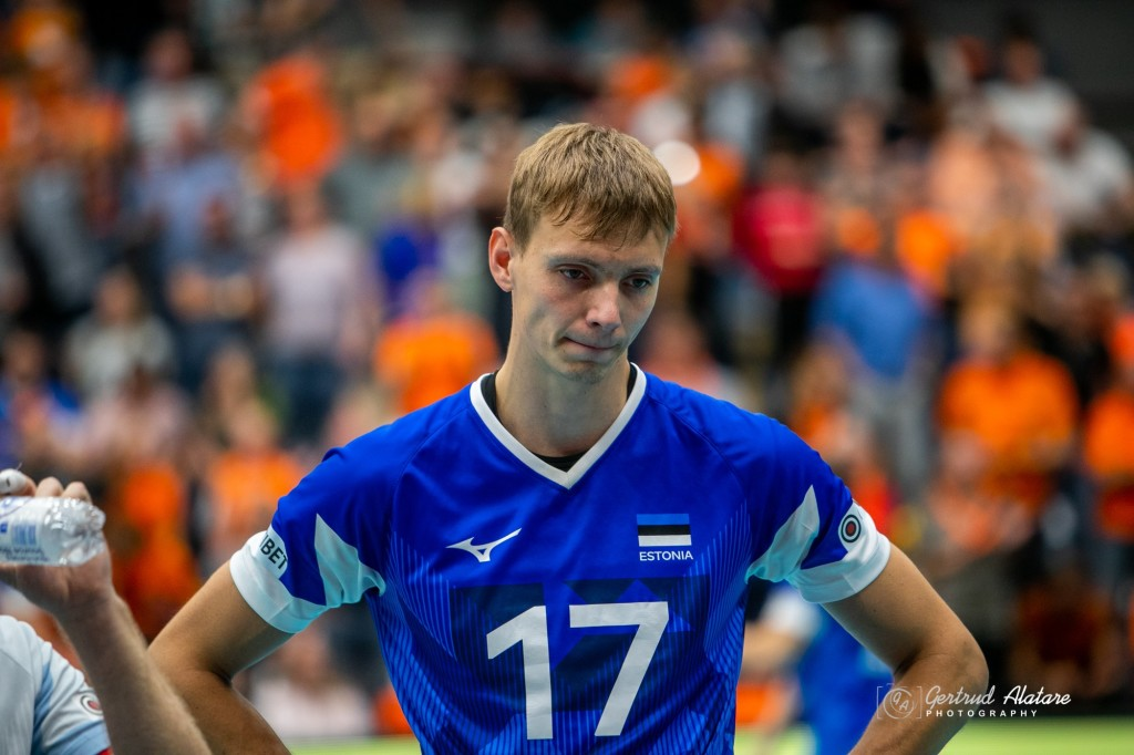 Timo Tammemaa koondises. Gertrud Alatare/volley.ee