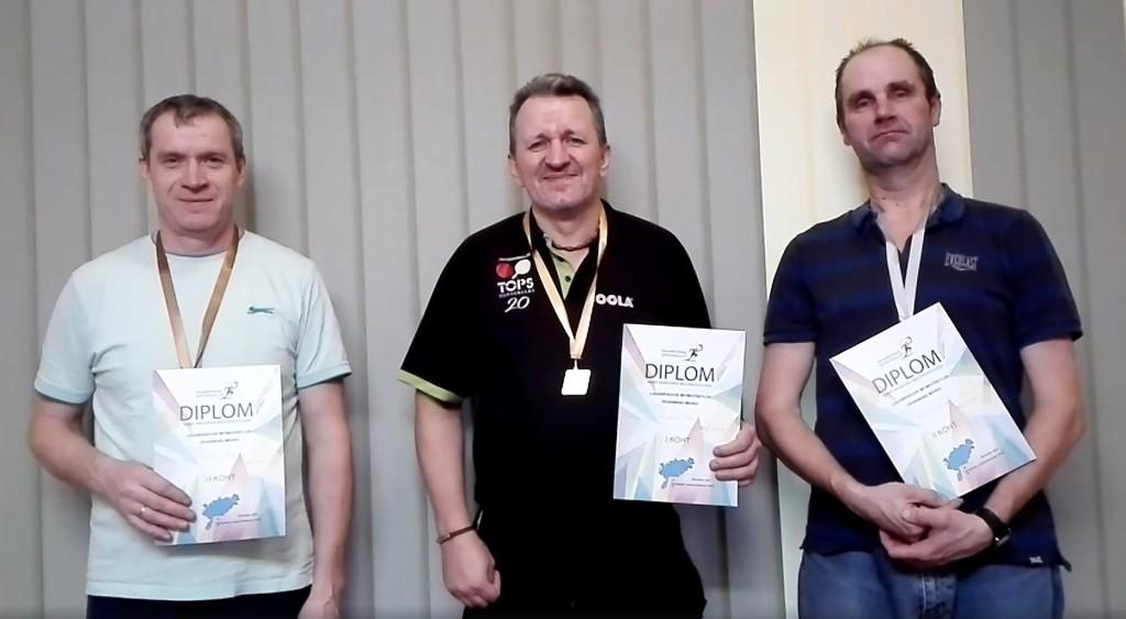 (vasakult) Väino Uljas, Gunnar Usin, Meelis Uuväli. Tiia Müürisepp