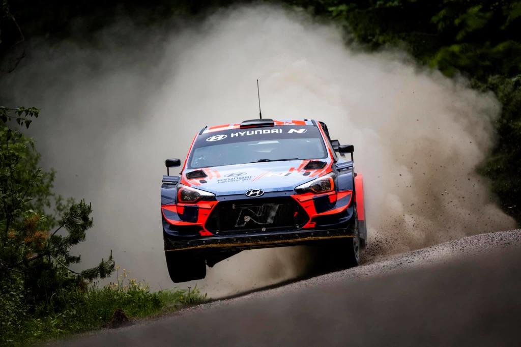 Ott Tänak testsõidul. Hyundai Motorsport
