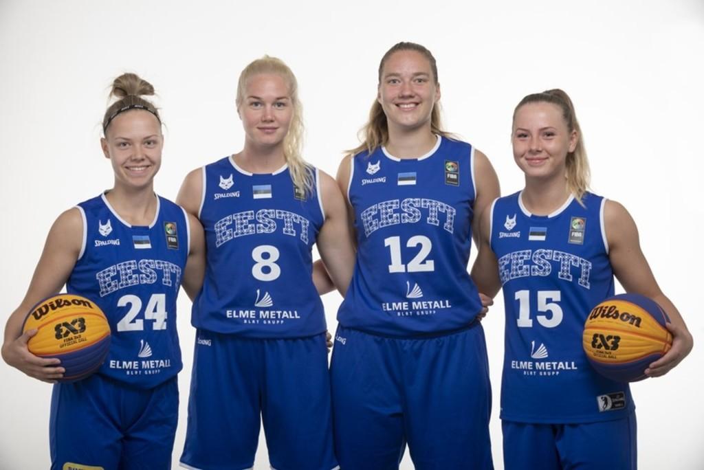 Eesti 3x3 naiskond koosseisus Annika Köster, Kadri-Ann Lass, Janne Pulk ja Johanna Eliise Teder. FIBA