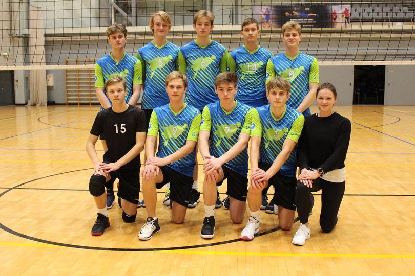 Võidukas meeskond. Saaremaa Võrkpalli Liit