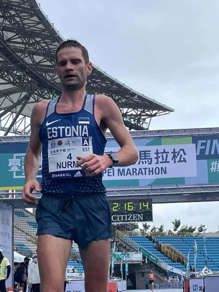 Tiidrek Nurme Taipei maratonil. Erakogu