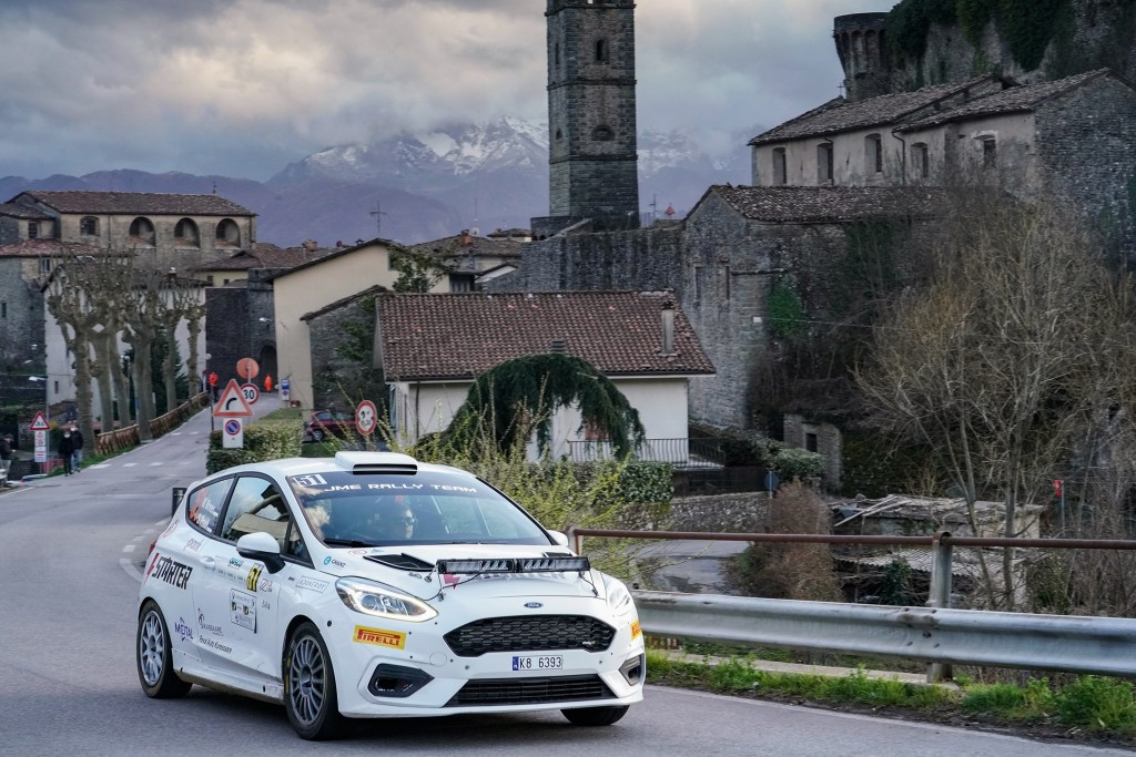 Robert Virves ja Sander Pruul rajal. IME Rally Team