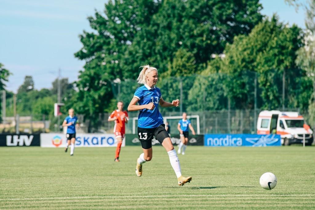 Kristina Teern rünnakul. Liisi Troska/jalgpall.ee