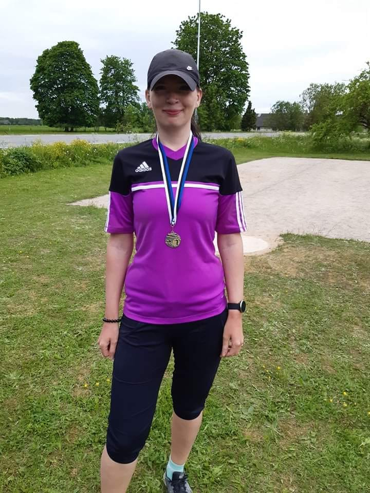 Võitja Katrin Lember. Saaremaa petangiklubi